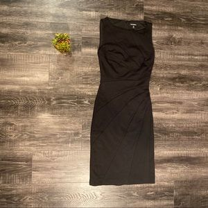 LE CHATEAU Black Tight Midi Dress